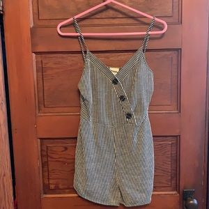 Caution to the Wind Striped Romper size med